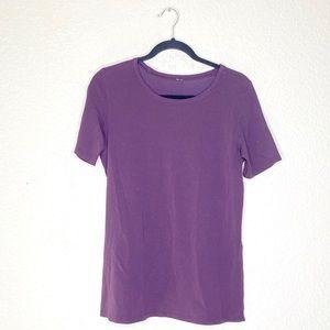 Lululemon purple short sleeve tee workout active